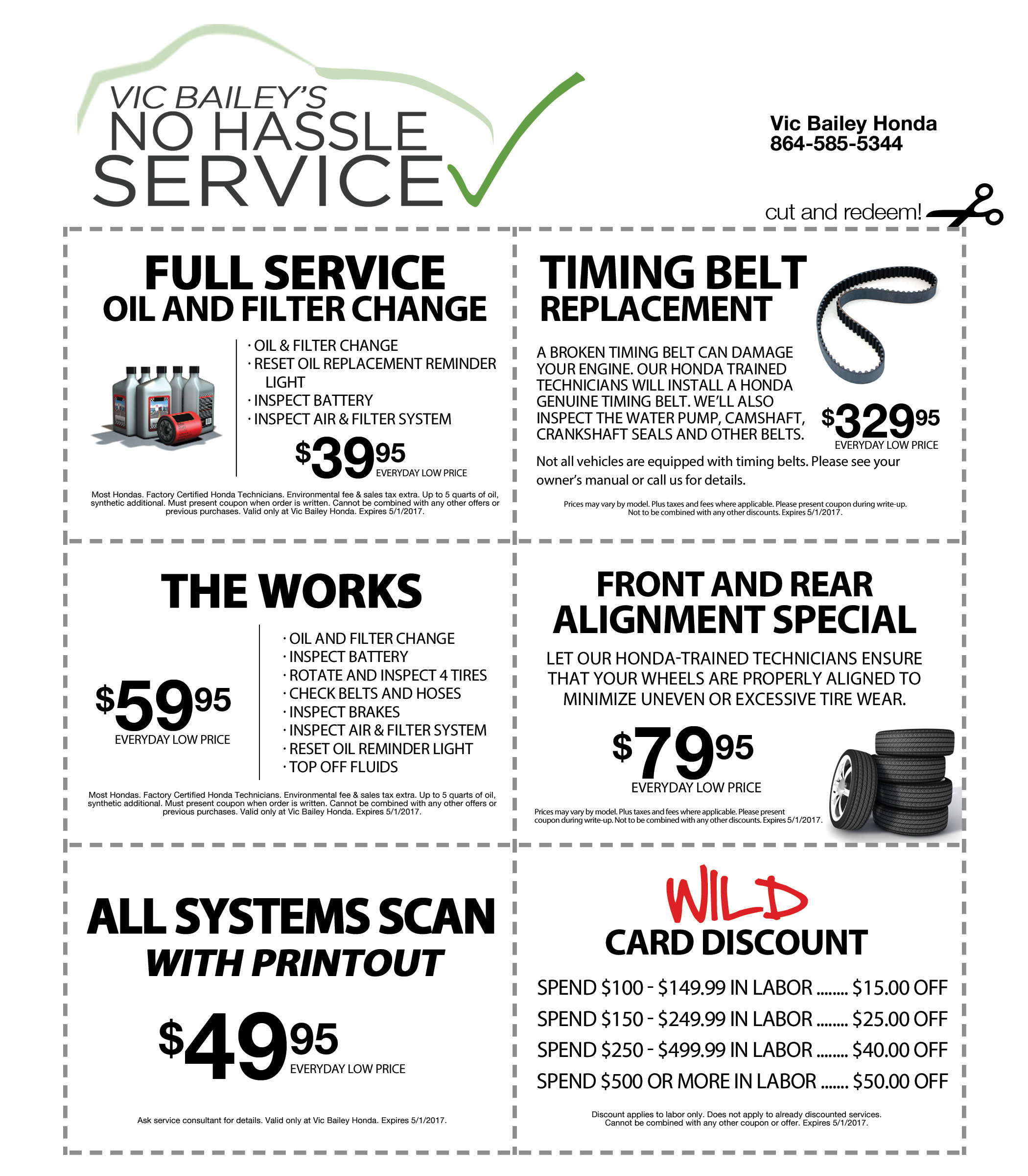 Parts and Service Coupons Banner
