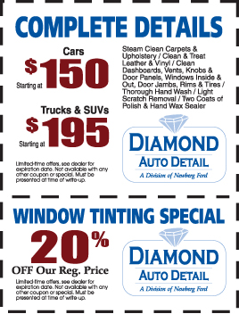 Specials at Diamond Auto Detail