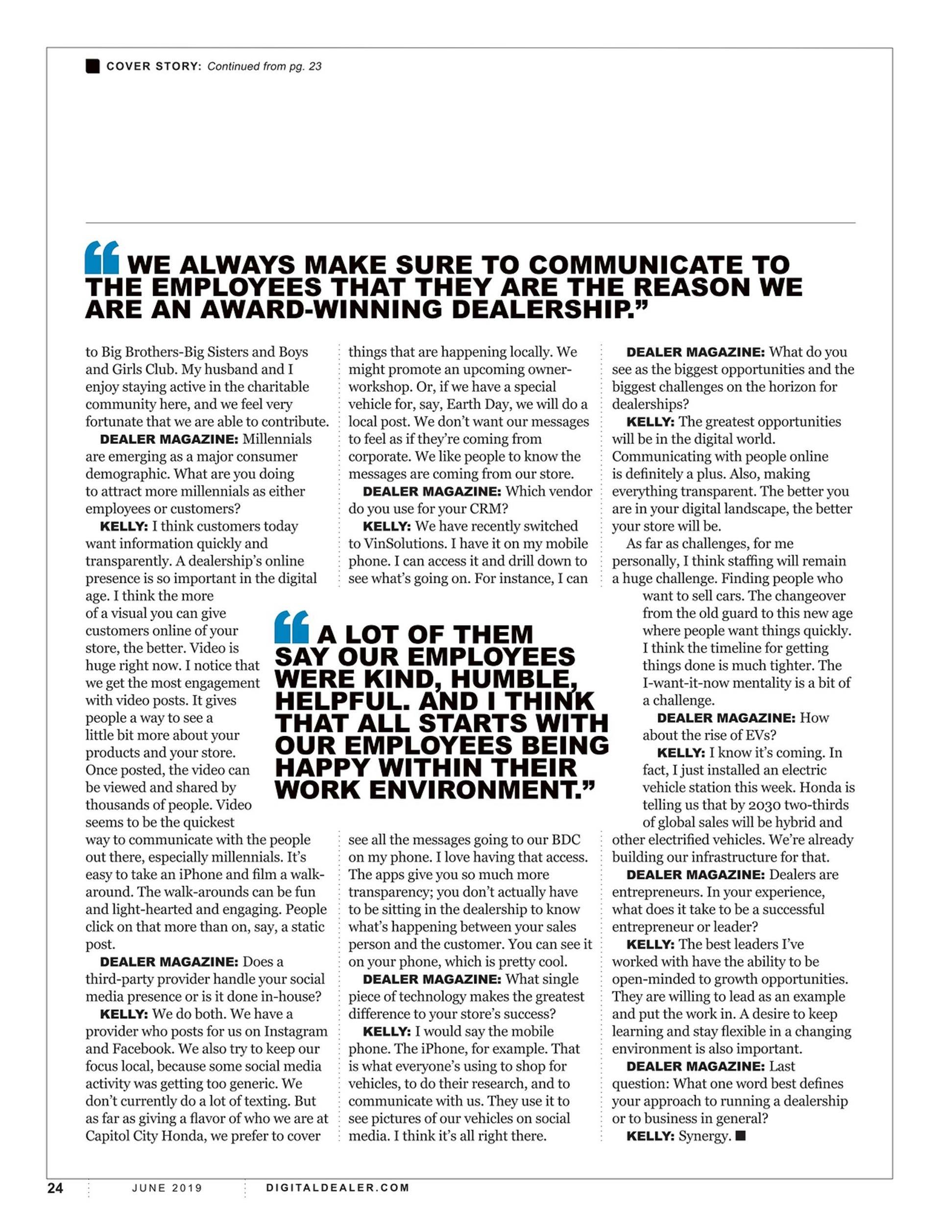 Capitol City Honda in Dealer Magazine 6