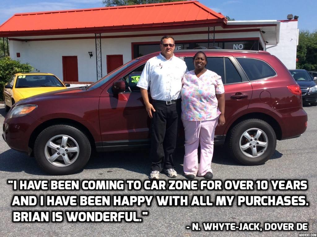 Chevy Dealers In Delaware >> Car Zone Customer Testimonials   Used Car Dealership & Bad ...