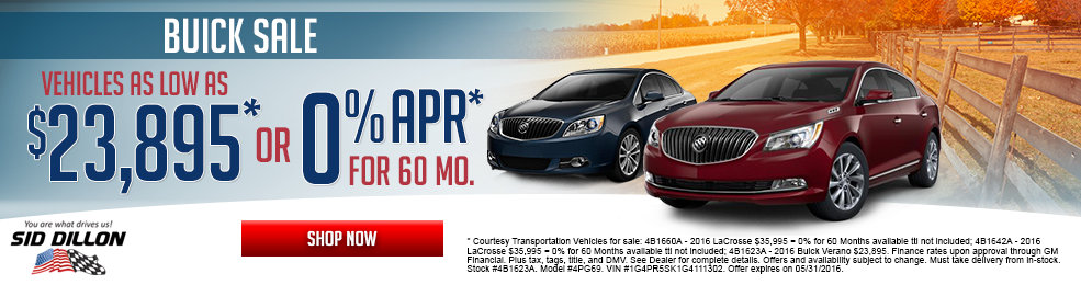 Get a great deal on a new Buick this month at Sid Dillon Wahoo
