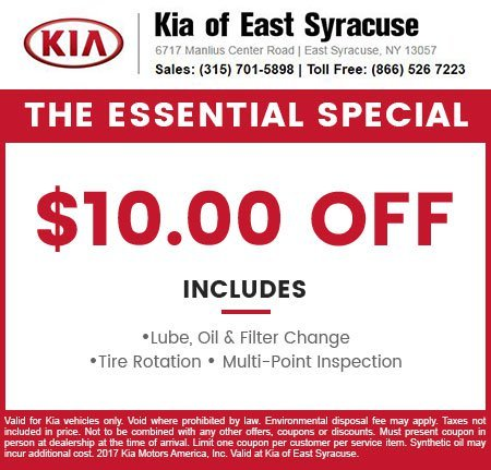 Service and Parts Coupons Kia of East Syracuse – Coupon Disclaimers