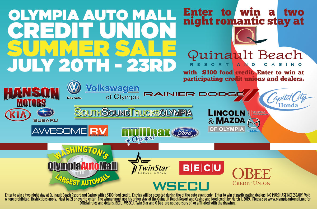 Olympia Auto Mall >> Credit Union Summer Sale | Capitol City Honda | Olympia, WA