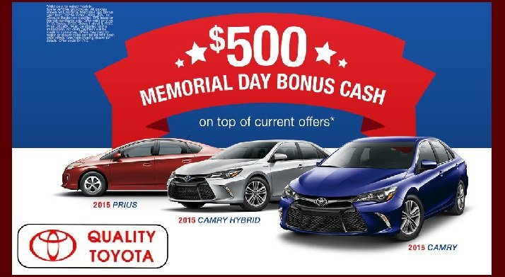 Toyota Memorial Day Sale