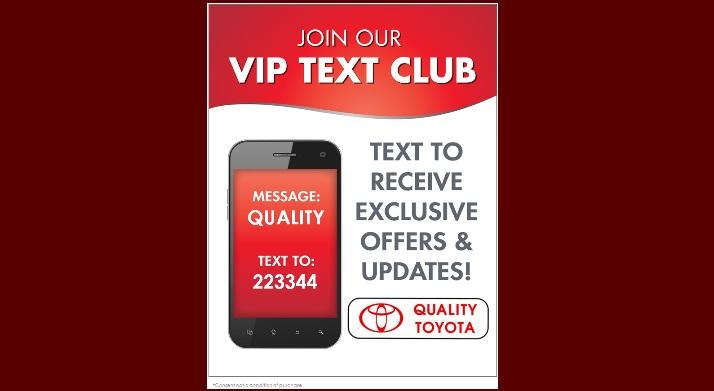 Quality Toyota Text Club