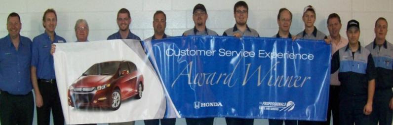 Honda Service Award Winner