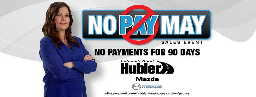 No Pay May at Hubler Mazda