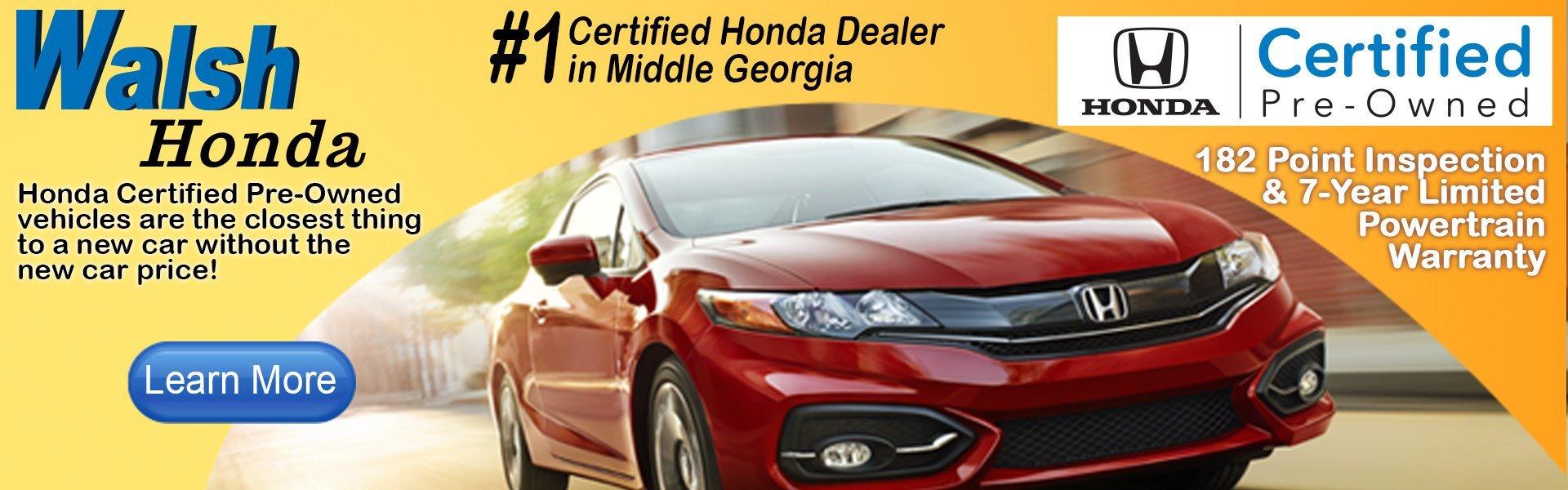 Walsh honda new used car suv truck sales macon for Honda dealers in georgia