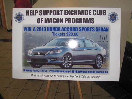 2013 Exchange Club Giveaway