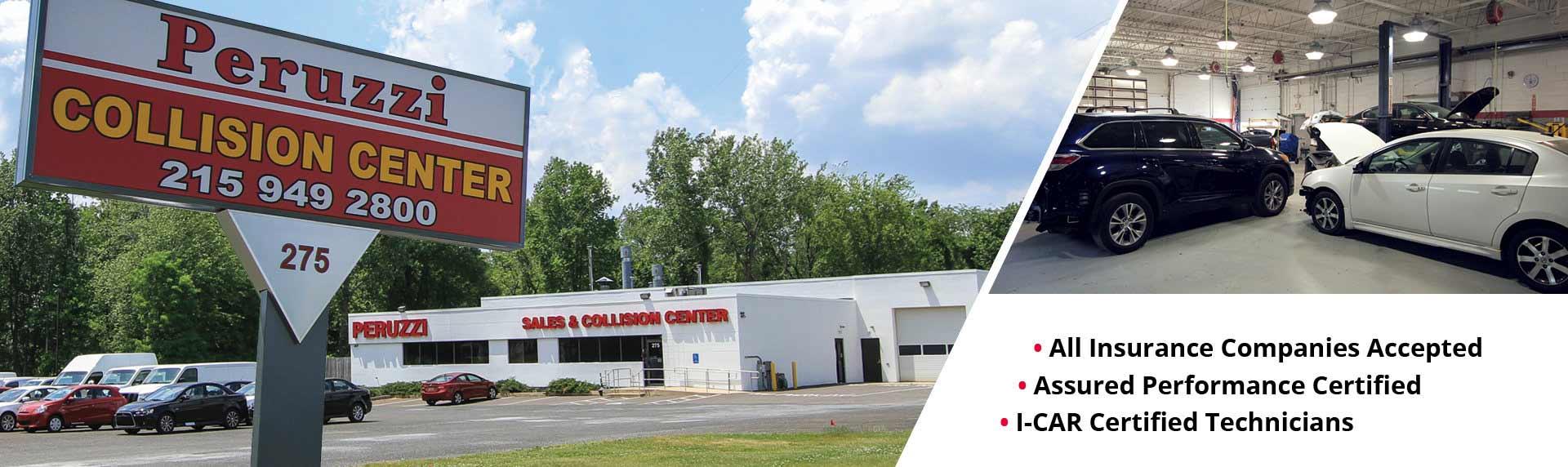 Peruzzi Collision Center Banner