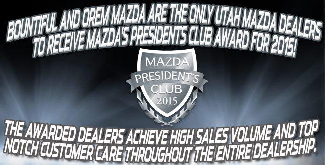 Utah Mazda dealer presidents club