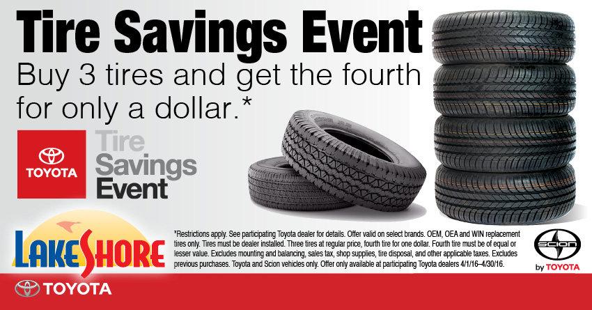 Lake Shore Toyota Tires Savings Event