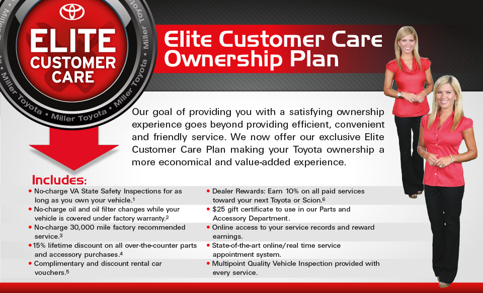 Miller Toyota Elite Customer Care.