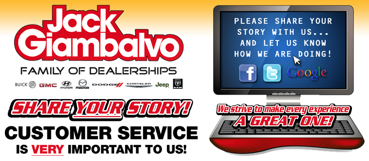 Jack Giambalvo Customer Service Banner