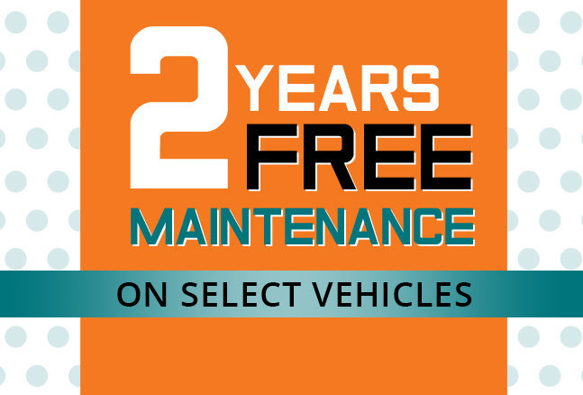 2 Years Free Maintenance On All Vehicles