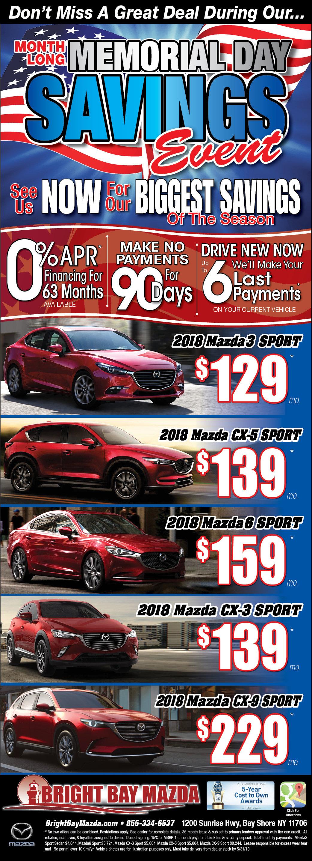 New Mazda Sales & Lease Specials