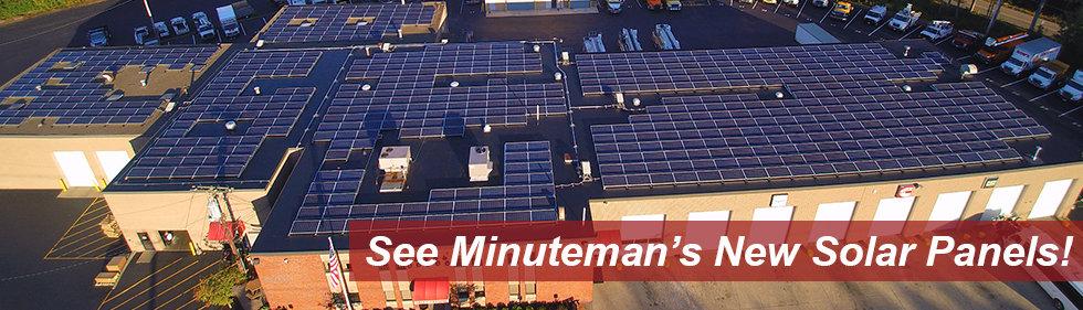 Solar Panels at Minuteman Trucks