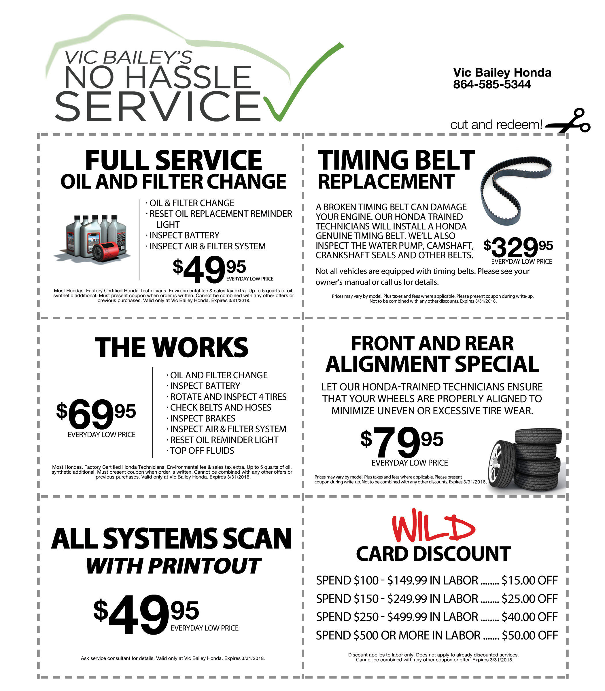 Perfect Parts And Service Coupons Banner