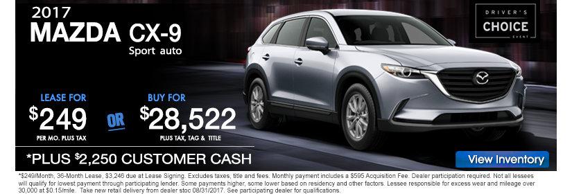 2017 Mazda CX9 Sale