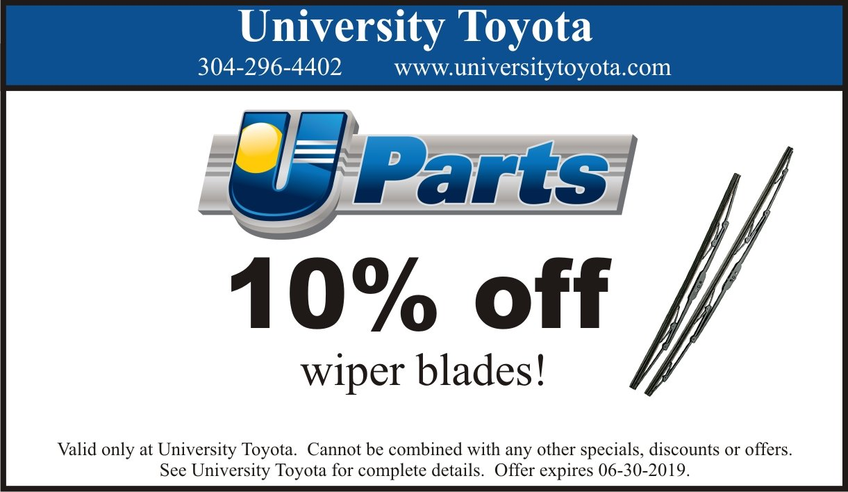 University Of Toyota >> Parts Specials University Toyota Morgantown Wv