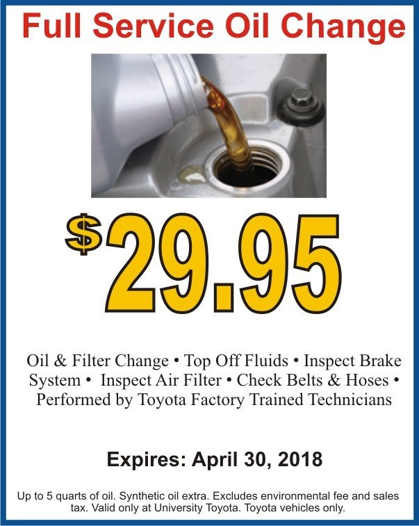 Full Service Oil Change Image