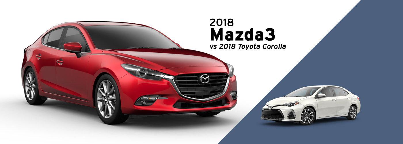 2018 Mazda3 vs 2018 Toyota Corolla