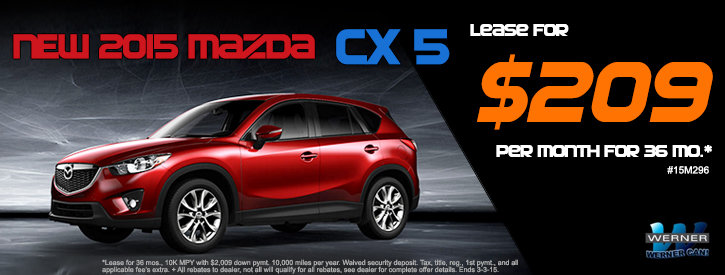 CX-5 February Lease Offers