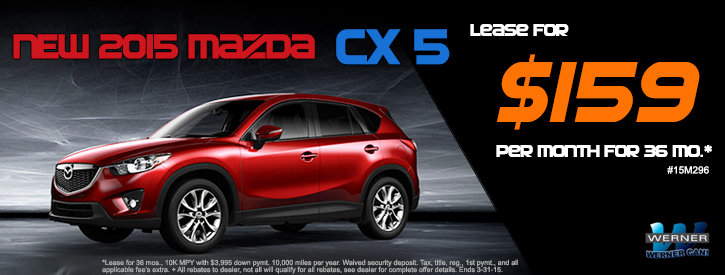 CX-5 March Lease Offer at Werner Mazda