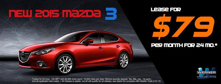 Mazda3 March Lease Offer at Werner Mazda