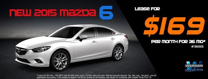 Mazda6 March Lease Offer at Werner Mazda