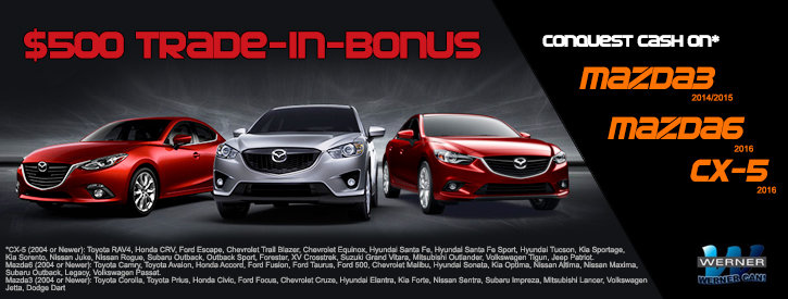 $500 Off Select New Mazdas