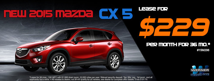 CX-5 May Lease Offer