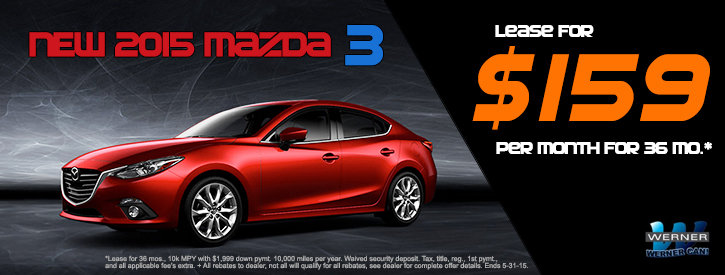 Mazda3 May Lease Offer