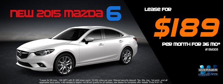 Mazda6 May Lease Offer