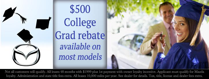 Werner Mazda offers several college incentives for recent grads