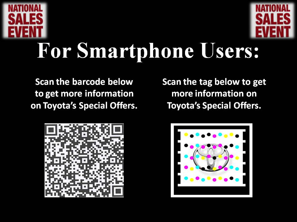 Toyota National Sales Event with QR Codes