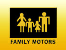 Hours and Directions Family Motors Logo