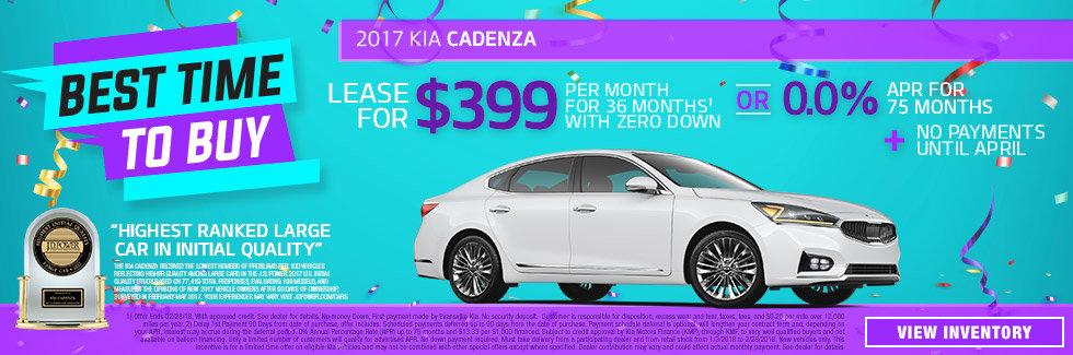 2017 Kia Cadenza January Special