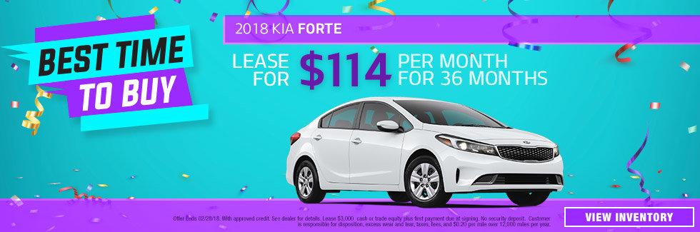 2018 Kia Forte January Special