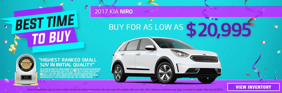 2017 Kia Niro January Special
