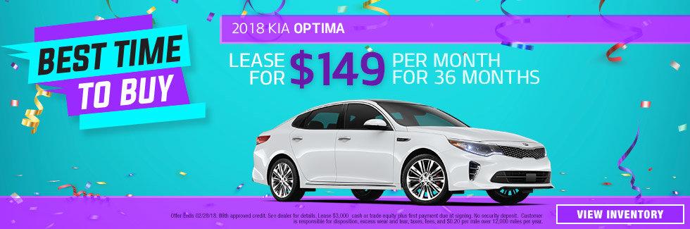 2018 Kia Optima January Special
