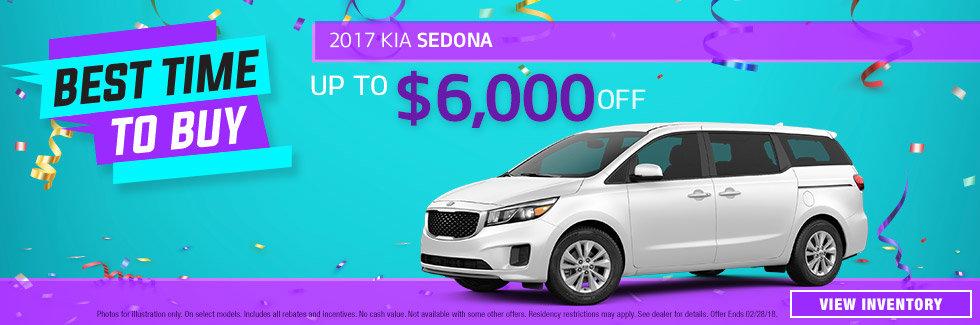 2017 Kia Sedona January Special