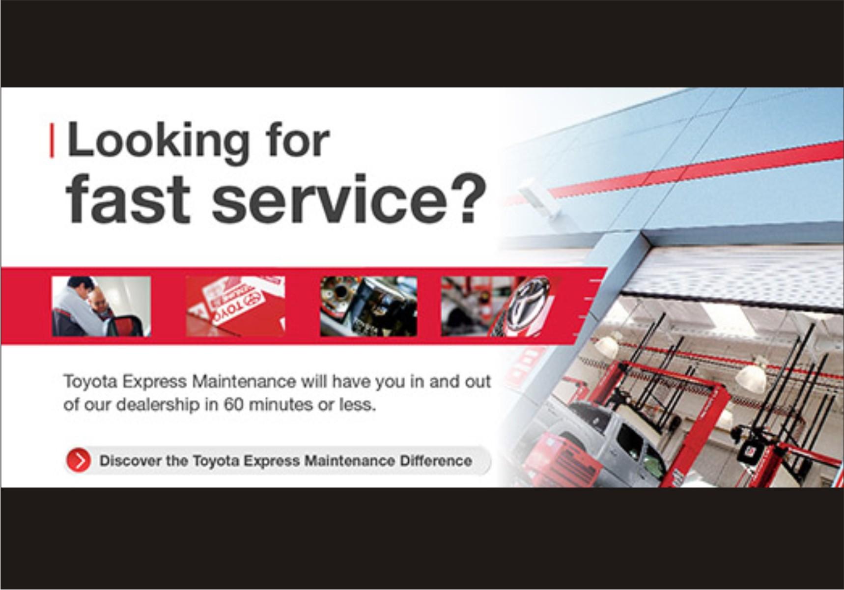 Visit University Toyota for Toyota Express Maintenance TXM Service.