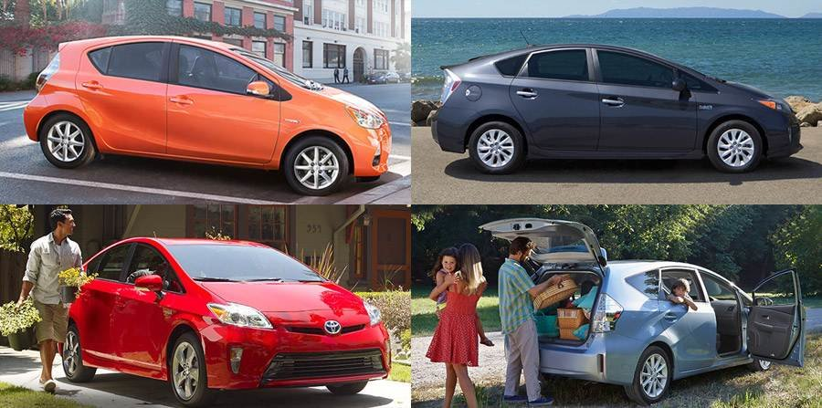 Compare Toyota Prius Models C V And Plug In Hybrid