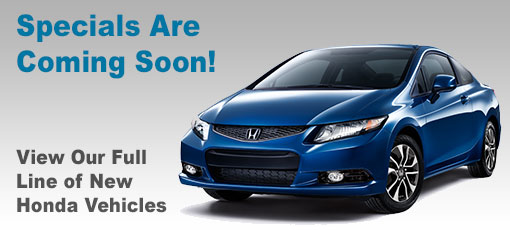 New Vehicle Specials - Please Browse Our Current Specials