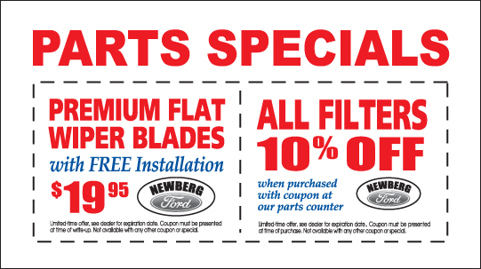 Newberg Ford Parts Special Offers