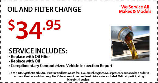 Oil Change Special at Michaud Mitsubishi
