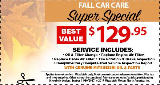 Fall Car Care Super Special at Michaud Mitsubishi