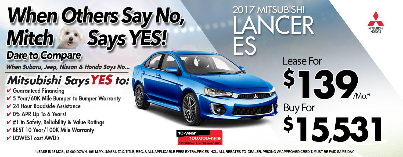 2017 Mitsubishi Lancer ES at Michaud Mitsubishi