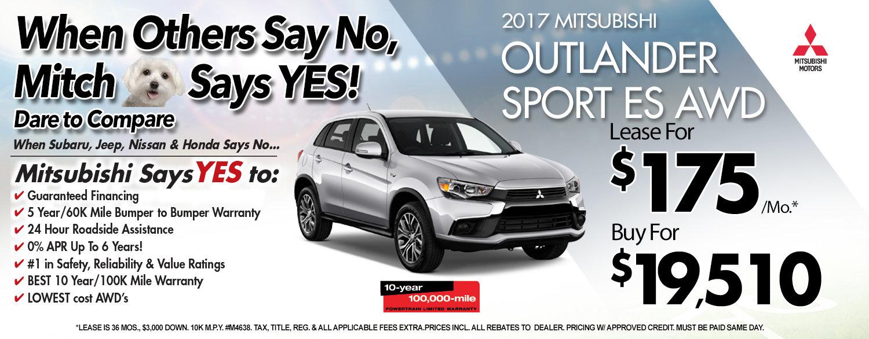 2017 Mitsubishi Outlander Sport ES AWC at Michaud Mitsubishi